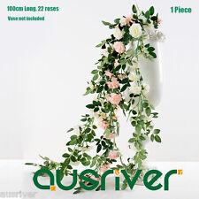 Life Like 100cm Artificial Rose Vine Plant Garland Silk Flowers Wedding Decor