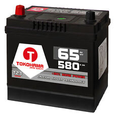 Autobatterie 65Ah 580A/EN Asia Japan Starter Batterie Plus Pol Links statt 60Ah