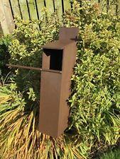 Bespoke handmade  wooden Tawny Owl nest box owl box . Nestbox in Forest Oak