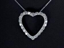 Collares y colgantes de joyería con diamantes VS1, amor y corazones