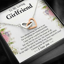 To My Loving Girlfriend Necklace, Pendants Valentine Gift For Her From Boyfriend