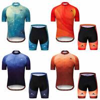 Miloto Men's Cycling Short Set Reflective Biking Jersey and Padded Shorts Kit