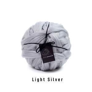 1kg Light Silver Mammoth®   Giant Super Chunky Extreme Arm Knitting Big Yarn