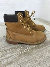 Timberland Kids Size 5 Junior 6-Inch Premium Waterproof Boot Wheat Nubuck 12909