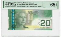 Canada $20 Dollars Banknote 2004-07 BC-64a PMG GEM Superb UNC 68 EPQ - Top Pop