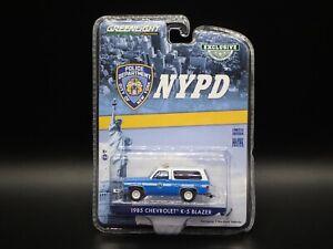 2021 GREENLIGHT 1985 CHEVROLET K5 BLAZER NYPD NEW YORK HOBBY EXCLUSIVE 1:64