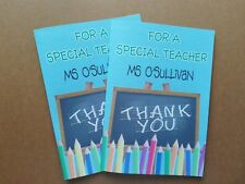 Personalised Thank You Teacher Gift 8 page booklet from your child