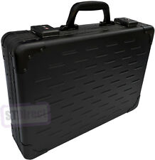 Solid Aluminium Executive Laptop Padded Briefcase Attache Case Black - 13-17.5""