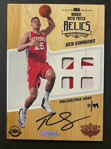 2016-17 Upper Deck UD Supreme Hard Court Ben Simmons RC Rookie Patch AUTO 11/99