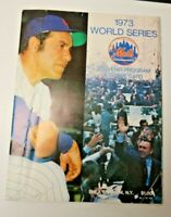 1973 WORLD SERIES PROGRAM OAKLAND A'S vs NEW YORK METS  MLB BASEBALL