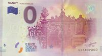 BILLET 0 EURO NANCY PLACE STANILAS FRANCE   2017 NUMERO 5000 DERNIER BILLET