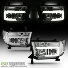 For 2007-2013 Toyota Tundra 08-17 Sequoia LED Optic Tube Projector Headlights