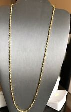 Heavy 18k Solid Gold Chain 20 Inches Long Chain Necklace $1100