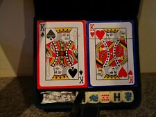 Plastic Cards & Poker Dice In A Holder