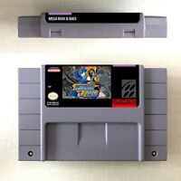 New Mega Man & BASS Game Card Console US Version For Nintendo SNES 16 Bit Englis