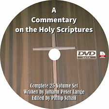 A Commentary on the Holy Scriptures - Johann Peter Lange - Bible Reference DVD