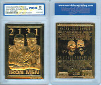 1995 CAL RIPKEN JR / LOU GEHRIG - IRONMEN COMBO 23K GOLD CARD - GEM-MINT 10