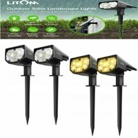 Litom 12 LED Solar Power Wall Lights Outdoor Landscape Security Lamp Waterproof