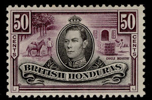 BRITISH HONDURAS GVI SG158, 50c black & purple, M MINT. Cat £40.