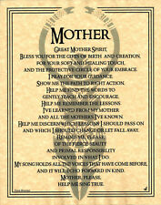 MOTHER GOD Invocation Page Poster Wiccan Pagan 8 1/2 x 11