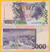 Saint Thomas & Prince / Sao Tomé e Principe 5000 Dobrasp-65 2013 UNC Banknote