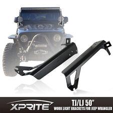"""50"""" LED Light Bar Upper Lower Mounting Bracket for 97-06 Jeep Wrangler TJ LJ"""