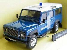 LAND ROVER DEFENDER POLICE GENDARMERIE 1/43RD MODEL LWB BLUE ISSUE K9687Q (=)