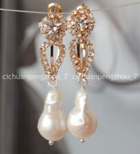 Really Natural South Sea White Baroque Pearl Drop Earrings