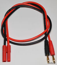 Turnigy / HXT 4MM Male Charger Adapter To 4mm Bullet Plug with 60CM 12awg Wire