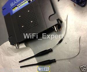 9dBi RP-TNC WiFi Antenna Linksys WRT54G V8 MOD KIT TO REPLACE FACTORY ANTENNAS