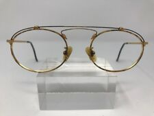 Authentic Vintage Police By Eastern States Eyeglasses 54-22-130 Gold Italy 8180