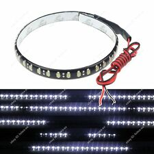 2x White 1FT 12IN 30CM 32Led Knight Rider Flash Strobe Scanner Neon Strip Light