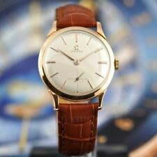 GORGEOUS OMEGA IN 18K SOLID GOLD MANUAL WIND CLASSIC VINTAGE GENTS WATCH