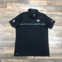 New York Jets Nike Polo Shirt Short Sleeve NFL On Field Dri-Fit Golf Men's XL