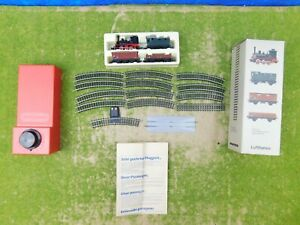 B10 Minitrix N Start Set Güterzug Lufthansa Werbegeschenk Batteriebetrieb OVP
