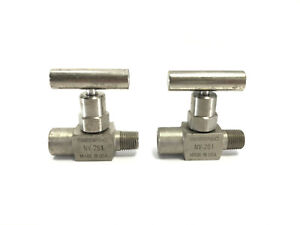 "Lot (2) ENERPAC NV-251 Needle Valve 1/4"" Male Female 10000 PSI / 700 Bar NOB"