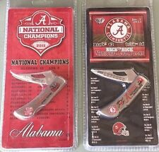 ALABAMA CRIMSON TIDE 2011 & 2012 NATIONAL CHAMPIONSHIP KNIFE SET BACK to BACK