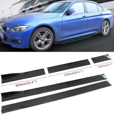 Universal Carbon Fiber Look Side Skirt Body Kit Rocker Panel Extension 2M/78.7''