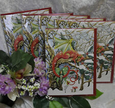 Set di sei biglietti natalizi DRAGO pagane GAME OF THRONES wicca Steampunk neve