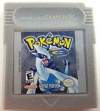 Pokemon Silver Version Game Boy Color Cleaned & New Save Battery Nice!