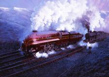 North Yorkshire Moors Ferrocarril Tren de Vapor LNER D49 tarjeta de Navidad en Blanco