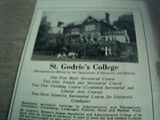 ephemera 1972 advert st godric's college hampstead