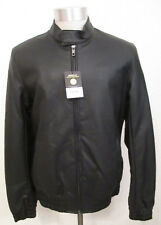 Claiborne Black Jacket Size Small Viscose Imitation Leather Water Resistant NWT