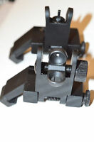 Reflex Metal Site 45 degree Back up angled battle sights 2pc spring loaded BUIS