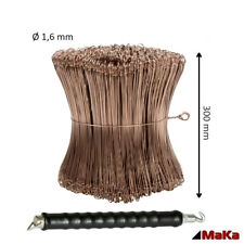 Drillapparat + 1000 Stück Drahtsackverschluss  verkupfert 300 x 1,6 mm Ösendraht