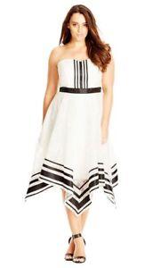City Chic  Handkerchief Hem Dress Plus Size XS RRP$119.95