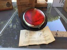 NOS NIB Vintage RED SCHOOL BUS KD LAMP 855F Light GLASS LENS AUTO Truck OLD Van