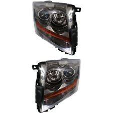 Headlight Set For 2008 2015 Cadillac Cts Left And Right With Bulb 2pc Fits 2010 Cadillac Cts