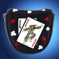 NEW Magnetic Poker Face MALLET Putter Cover Headcover For Odyssey Scotty Cameron