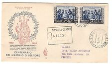 FDC VENETIA  CLUB  1952  -  BELFIORE   VIAGGIATA